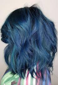 65 iridescent blue hair color shades