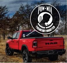 Pow Mia Military Window Decal Stickers Custom Sticker Shop