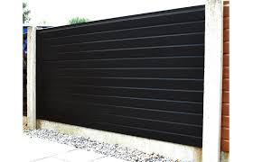 Black Foil Wrapped Upvc Plastic Fence Panel Cocklestorm Fencing