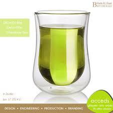 double layered turkish tea glass cup