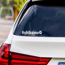 Amazon Com Shiba Inu Hashtag Vinyl Car Sticker Decal Shibainu Computers Accessories