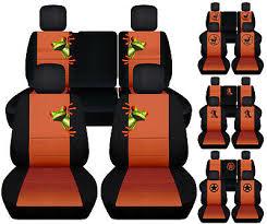 car seat covers blk burnt orange fits