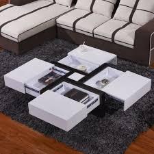 designer high gloss white coffee table