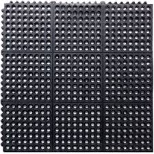 rubber interlocking mat black homebase