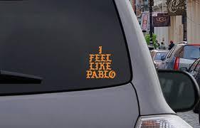 I Feel Like Pablo Logo Kanye West Macbook Car Window Vinyl Decal The Life Of Pablo Tlop Yeezy Shoes Macbook Decal Window Vinyl Feelings