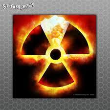 Radioactive Atomic Bomb Sticker Car Truck Vinyl Decal Radiation Symbol Zombie