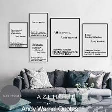 nordic black white mini st typography andy warhol life quotes