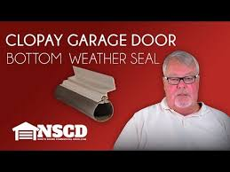 clopay garage door bottom weatherseal