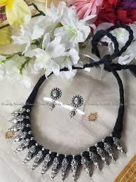 oxidized jewelry indian black thread