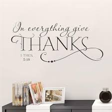 In Everything Give Thanks Wall Sticker Picksthatstick