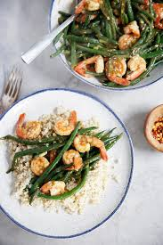 one pan shrimp and green beans