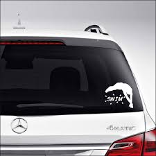 Amazon Com Aampco Decals Swim Swimmer Swimming Car Truck Motorcycle Windows Bumper Wall Decor Vinyl Decal Sticker Size 6 Inch 15 Cm Wide Color Gloss White