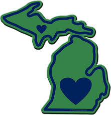 Amazon Com Michigan Sticker Mi State Shaped Decal Vinyl Apply To Water Bottle Laptop Cooler Car Truck Bumper Tumbler 313 616 517 Roots Automotive