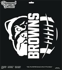 Cleveland Brown Vinyl Decal Nfl Football Dawg Pound Car Truck Suv Window Sticker Diamonddecals Football Decal Cleveland Browns Cleveland Browns Logo