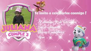 Tarjeta De Invitacion Animada Para Fiesta De Nina Motivo