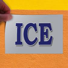 Decal Sticker Ice Cold Water White Blue4 Restaurant Food Outdoor Store Sign Business Signs Business Industrial 32baar Com