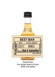 groomsmen proposal whiskey label liquor