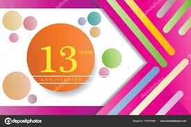 Years Anniversary Celebration Logo Flat Design Isolated White