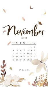 november 2018 calendar phone wallpaper