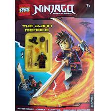 Lego – Ninjago – Activity Book with Mini Figure: The Djinn Menace – The Book  Box