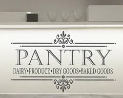 Pantry Wall Decal Etsy