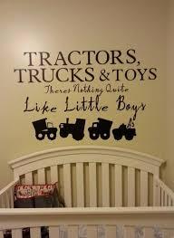 Baby Boy Nursery Wall Decal Vinyl Decal Tractor Construction Etsy