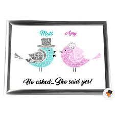 mr mrs him her framed love birds