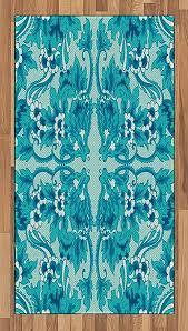 lunarable turquoise area rug