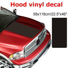 Car Solid Hood Vinyl Decal For Dodge Ram 1500 Truck Graphic Matte Blackout Brand New And High Quality Car Stickers Aliexpress