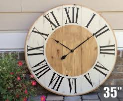 oversized rustic wall clock new home