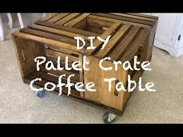 diy pallet wood crate coffee table w