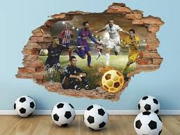 Football 3d Wall Decal Fifa Wall Sticker Sport Removable Etsy 3d Wall Decals Kids Room Wall Art Wall Stickers Sports