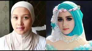 cara make up pengantin dan cara hijab