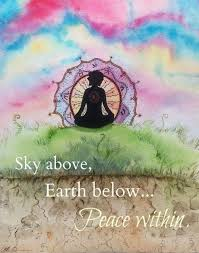 sky above earth below peace in picture quotes