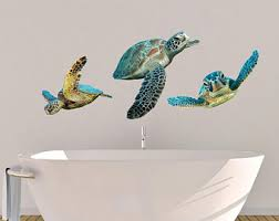 Turtle Wall Decal Etsy