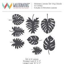 Large Monstera Leaves Fronds Nature Vinyl Wall Decal Graphic Stickers Wallternatives
