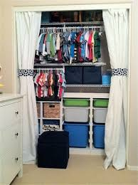 Open Your Possibilities With An Open Closet Curtains For Closet Doors Small Closet Space Kids Room Organization Boys