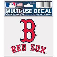 Official Boston Red Sox Car Decals Red Sox Auto Truck Emblems Mlbshop Com