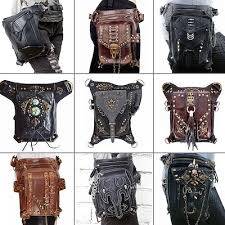waist leg bag retro pu leather rivet