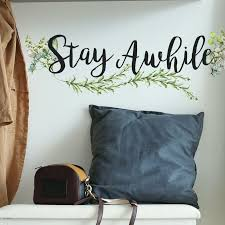 Red Barrel Studio Stay Awhile Quote Wall Decal Wayfair
