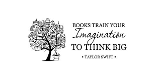andreadesigns books train your imagination quote wall decal