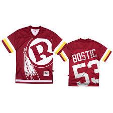 Redskins Jon Bostic Burgundy Big Face ...