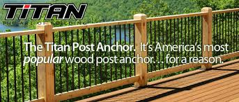 Titan Post Anchor Wood Posts Install Fast Easy Code Compliant