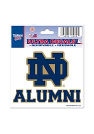 Notre Dame Fighting Irish 3x4 Alumni Auto Decal Blue 5710466