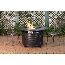 truro aluminum propane fire pit table