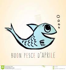 Text Buon Pesce D Aprile, Happy April Fools Day In Italian Stock ...