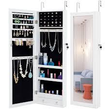 the door hanging jewelry cabinet