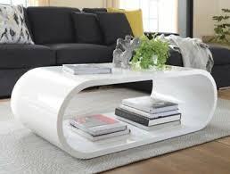 white gloss loop coffee table