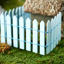 Blue Wood Picket Fence Fairy Garden Supplies Craft Supplies Factory Direct Craft