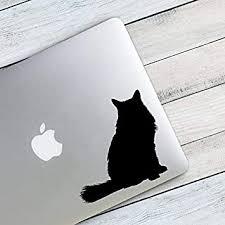 Amazon Com Celycasy Longhair Cat Silhouette Custom Vinyl Decal Sticker Diy Tumbler Decal Cat Lover Gift Cat Lady Baby